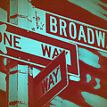 New York Broadway Sign by Naxart Studio