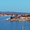 Newport Beach Harbor At Dusk by Kelley King