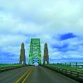 Newport Oregon Bridge by Lisa Rose Musselwhite