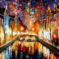Night Amsterdam by Leonid Afremov