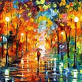 Night Mood In The Park by Leonid Afremov