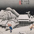 Night Snow by Hiroshige