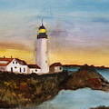 North Truro Light House Cape Cod by Donna Walsh