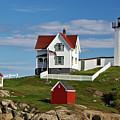 Nubble Lighthouse - D002365 by Daniel Dempster