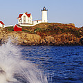 Nubble Lighthouse In Daylight by Jeremy Woodhouse