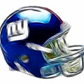 Ny Giants Helmet - Fantasy Art by Paul Ward