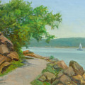 Nyack Trail Along The Hudson by Phyllis Tarlow