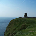 O'brien's Tower At The Cliffs Of Moher Ireland by Teresa Mucha