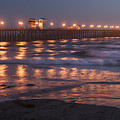 Oceanside Pier In The Mist by Sandra Bronstein