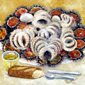 Octupus And Sea Urchins Dinner by Leonardo Ruggieri