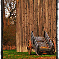 Ohio Wheelbarrel In Autumn by Joan  Minchak