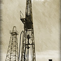 Oil Derrick Vi by Ricky Barnard