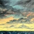 Oil Skyscape Painting by Derek Mccrea