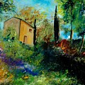 Old Barn In Provence  by Pol Ledent