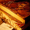 Old Books And Glasses by Garry Gay