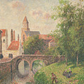 Old Bridge In Bruges  by Camille Pissarro