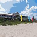 Old Casino On An Atlantic Ocean Beach In Florida by Allan  Hughes