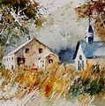 Old Chapel In Herhet by Pol Ledent
