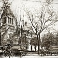 Old Courthouse Public Square Wilkes Barre Pa Late 1800s by Arthur Miller