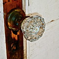 Old Glass Doorknob by Diana Hatcher