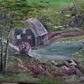 Old Grist Mill by M Bhatt