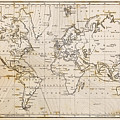 Old Hand Drawn Vintage World Map by Richard Thomas