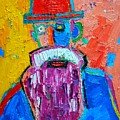 Old Man With Red Bowler Hat by Ana Maria Edulescu