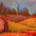 Old Mission Hayrolls I by Tracey Flanigan