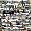 Old Paris Collage by Janos Kovac