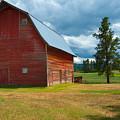 Old Red Big Sky Barn  by Sandra Bronstein
