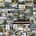 Old Vancouver Collage by Janos Kovac