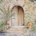 Old Wooden Door by Lizzy Forrester