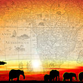 Old World Africa Warm Sunset by Dana Bennett