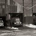 Olyphant Pa Coal Breaker Loading Trucks And Gondola Car Winter 1971 by Arthur Miller