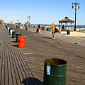 On The Coney Island Boardwalk by Madeline Ellis