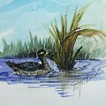 On The Pond by Ethel Dixon