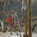 One Of The Soldiers With A Spear Pierced His Side by Tissot