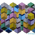 Optic Cube Series  8 by M Jaquis