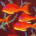 Orange Coral Reef Fish by Kay Shaffer