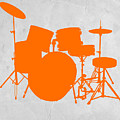 Orange Drum Set by Naxart Studio