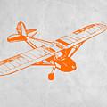 Orange Plane 2 by Naxart Studio