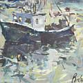Original Lobster Boat Painting by Robert Joyner