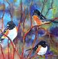Orioles In Dogwood by Peggy Wilson