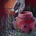 Owl N Pot by Sylvia Stone