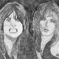 Ozzy Osbourne And Randy Rhoads by Bari Titen