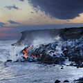Pacific Lava Flow by Dave Fleetham - Printscapes
