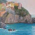 Painted Ladies Of Manarola by Bunny Oliver