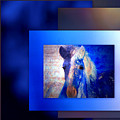 Painted Pony In Blue by Irma BACKELANT GALLERIES