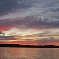 Painted Sunset On Gunflint Lake by Shari Jardina
