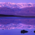 Panorama Badwater And The Panamint Range At Sunrise Death Valley by Dave Welling